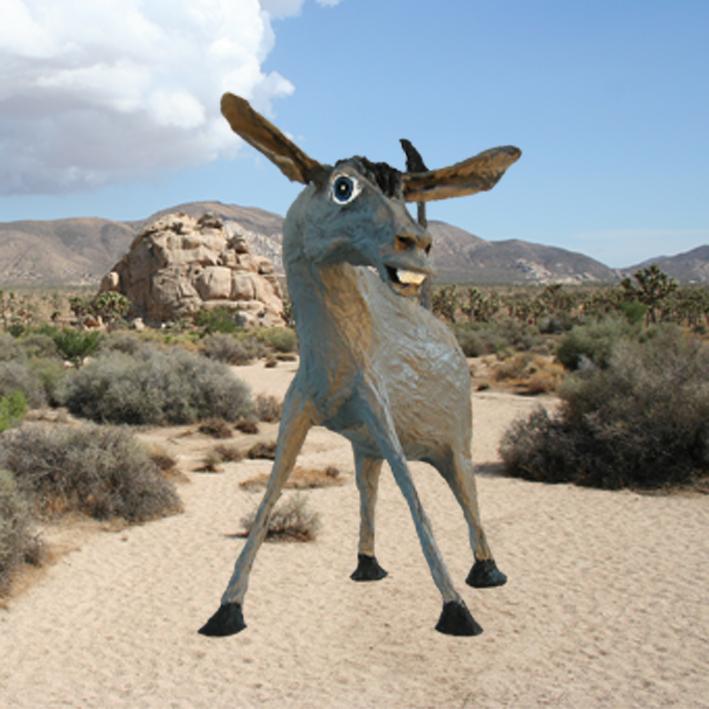 Esel in Bamboo Rock in Kalifornien